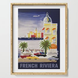 The French Riviera - Vintage Travel Serving Tray