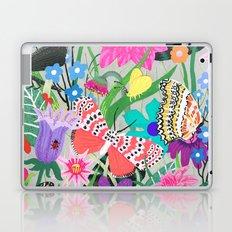 Butterflies and Moths Pattern - Grey Laptop & iPad Skin
