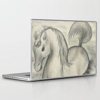 sea horse Laptop & iPad Skins featuring Sea Horse by Alexandra Sutherland