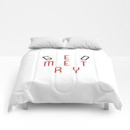 Minimalist Abstract Geometry Optical Illusion Field Comforters