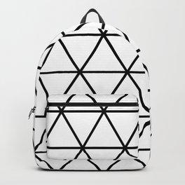 White Isometric Grid Backpack