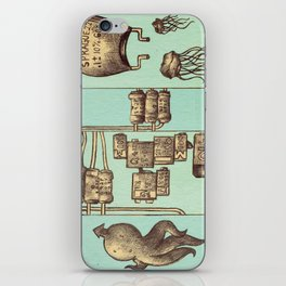 The Squid and The Capacitor iPhone Skin