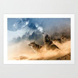 Moonrise Howl Art Print