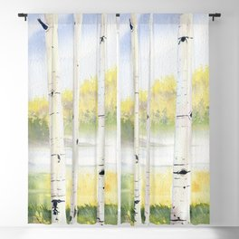 Behind The Birch Trees Blackout Curtain