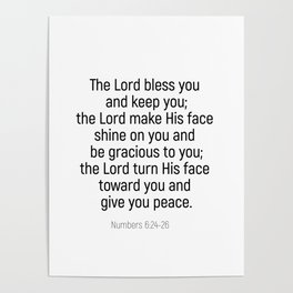 Numbers 6 24 #bibleverse #scriptures #blessing Poster
