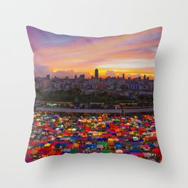 A Different Kind Of Rainbow Throw Pillow