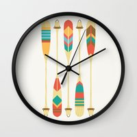outdoor Wall Clocks featuring Summer Lake by Picomodi