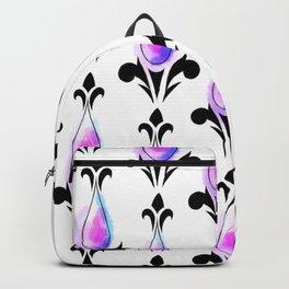 Purple Splash Pattern Backpack