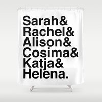 orphan black Shower Curtains featuring Orphan Black by Elanor Jarque