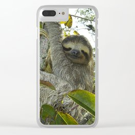 Smiling Sloth Clear iPhone Case