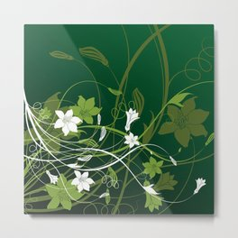 Art Flowers V15 Metal Print