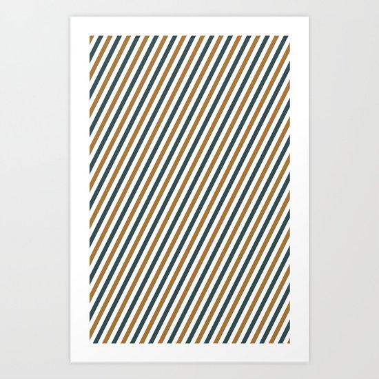 Postal stripes Art Print
