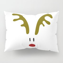 Christmas Red Nose Reindeer Pillow Sham