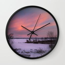 Cold Morning Sky Wall Clock