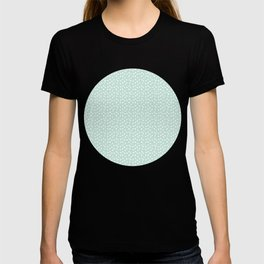 Mint Passion Thalertupfen White Pōlka Round Dots Pattern Pastels T-shirt