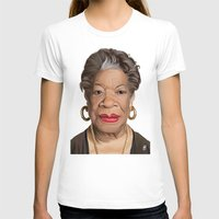 celebrity T-shirts featuring Celebrity Sunday ~ Maya Angelou by rob art | illustration