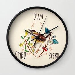 Dum Spiro Spero Wall Clock