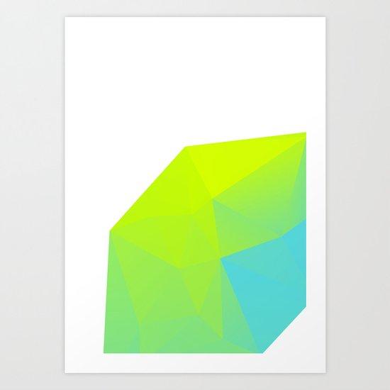 Neon Landscape 01. Art Print