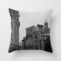 roman Throw Pillows featuring Roman Wanderings by Upperleft Studios