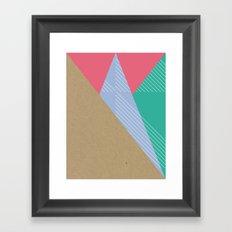Cardboard & Combo Stripes Framed Art Print