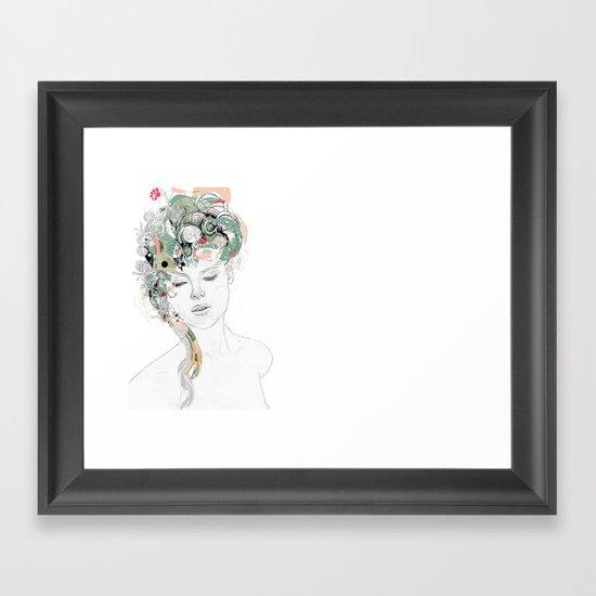 Beauty waiting Framed Art Print