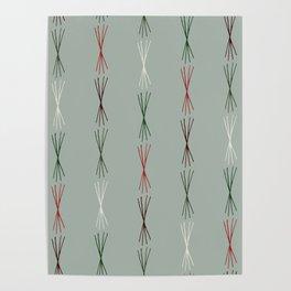 Modern Christmas Pattern Print Design Poster