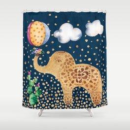 Elephant Play Shower Curtain