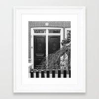 door Framed Art Prints featuring door by habish