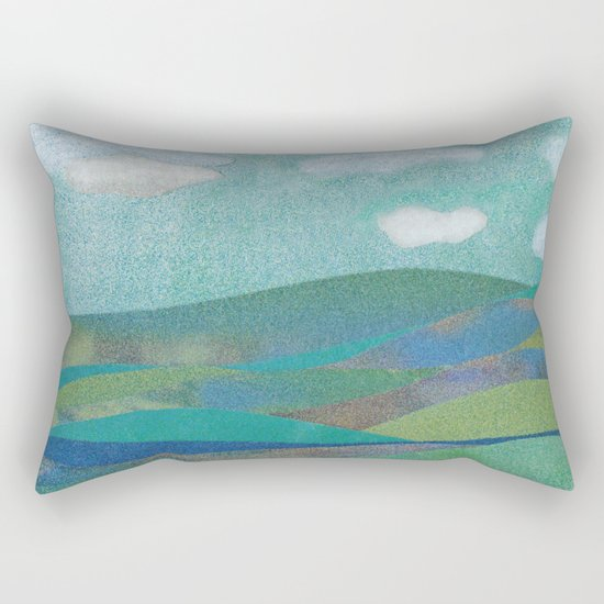 COLLAGE LOVE: Seascape Rectangular Pillow