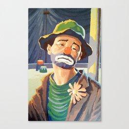 (Very) Sad Clown Canvas Print