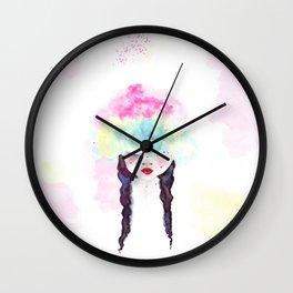 Creative mind Creative soul - watercolors girl Wall Clock