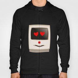 Love Face Beige Computer Hoody