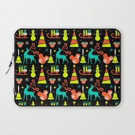 Black Neon Christmas Laptop Sleeve