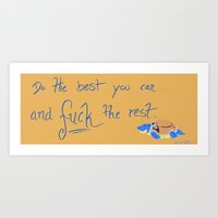 motivational Art Prints featuring Motivational by Aethyrworlds