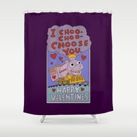simpsons Shower Curtains featuring The Simpsons: I choo-choo-choose you by dutyfreak