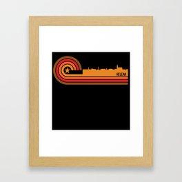 Retro Style Helena Montana Skyline Framed Art Print