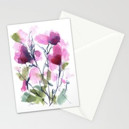 Pink Heart Petals Stationery Cards