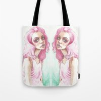 jem Tote Bags featuring Jem Is Truly Outrageous by BookOfFaces
