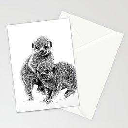 Baby meerkats Stationery Cards