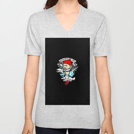 old man Unisex V-Neck