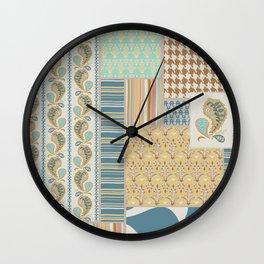 Heirloom Vibe Patchwork Dulcimer Colorway Wall Clock