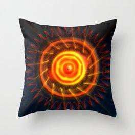 Solar Rays Throw Pillow