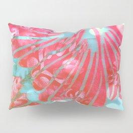 Blue Water Hibiscus Snowfall Pillow Sham