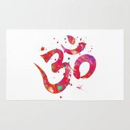 Colorful Om Symbol Rug
