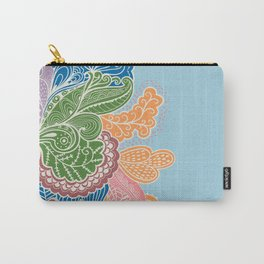 Colored Paislies Carry-All Pouch