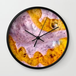 Blackberry Yogurt with Honey Drizzle Wall Clock