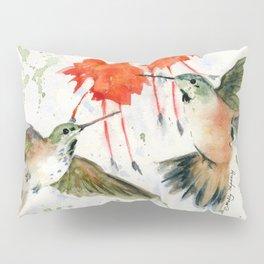 Hummingbird Watercolor Pillow Sham