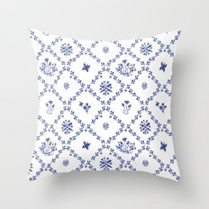 Clue in the Garden Patches Throw Pillow
