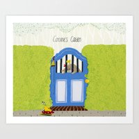 Caroline's Garden Art Print