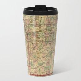 Vintage Missouri Railroad Map (1872) Travel Mug